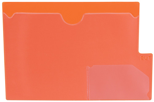 "Tabbies 74583 - ORANGE LARGE TAB VINYL OUTGUIDE, OVERALL: 9""H x 13-1/4""W, BODY SIZE: 9""H x 12""W, ORANGE, 10/PACK"