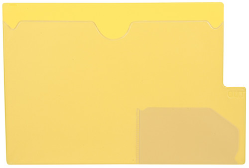 "Tabbies 74584 - YELLOW LARGE TAB VINYL OUTGUIDE, OVERALL: 9""H x 13-1/4""W, BODY SIZE: 9""H x 12""W, YELLOW, 10/PACK"
