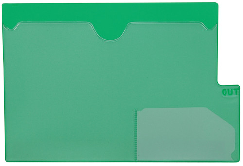 "Tabbies 74585 - GREEN LARGE TAB VINYL OUTGUIDE, OVERALL: 9""H x 13-1/4""W, BODY SIZE: 9""H x 12""W, GREEN, 10/PACK"