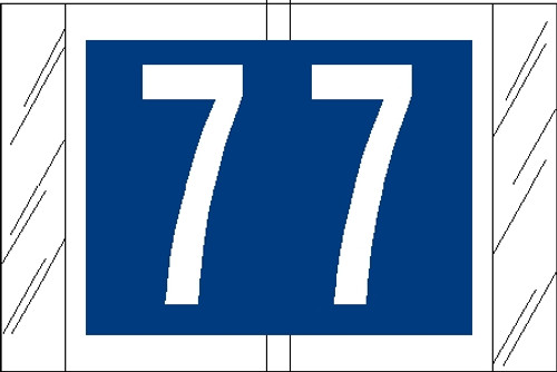 "Tabbies 81007 - ORIGINAL COL'R'TAB® NUMERIC 81000 LABEL SERIES, 1"" NUMERIC TAB '#7', BLUE, 1""H x 1-1/2""W, 100/PACK"