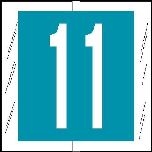 "Tabbies 81501 - ORIGINAL COL'R'TAB® NUMERIC 81500 LABEL SERIES, 1-1/2"" NUMERIC TAB '#1', LIGHT BLUE, 1-1/2""H x 1-1/2""W, 104/PACK"