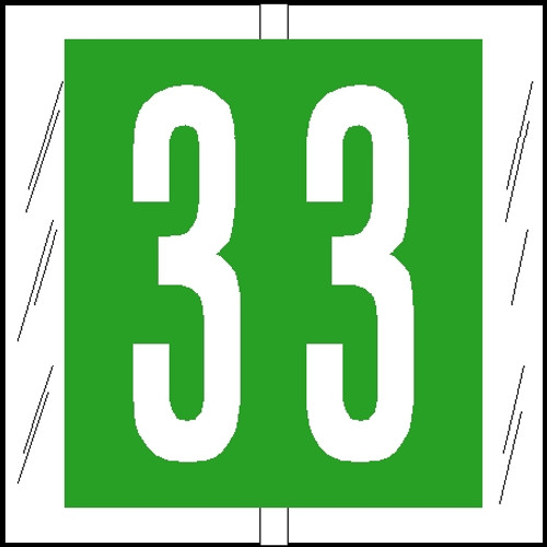 "Tabbies 81503 - ORIGINAL COL'R'TAB® NUMERIC 81500 LABEL SERIES, 1-1/2"" NUMERIC TAB '#3', LIGHT GREEN, 1-1/2""H x 1-1/2""W, 104/PACK"