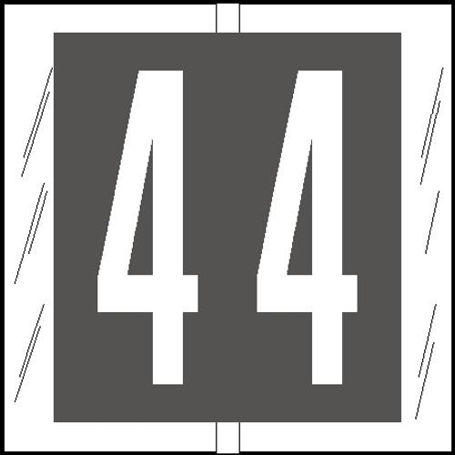 """Tabbies 81504 - ORIGINAL COL'R'TAB® NUMERIC 81500 LABEL SERIES, 1-1/2"""" NUMERIC TAB '#4', GRAY, 1-1/2""""H x 1-1/2""""W, 104/PACK"""