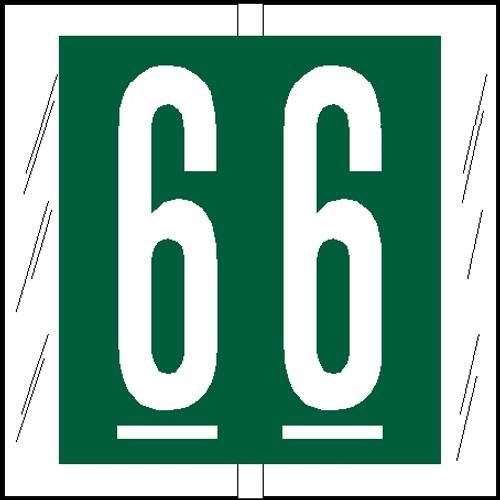 "Tabbies 81506 - ORIGINAL COL'R'TAB® NUMERIC 81500 LABEL SERIES, 1-1/2"" NUMERIC TAB '#6', GREEN, 1-1/2""H x 1-1/2""W, 104/PACK"