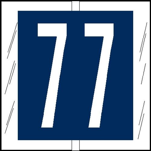 "Tabbies 81507 - ORIGINAL COL'R'TAB® NUMERIC 81500 LABEL SERIES, 1-1/2"" NUMERIC TAB '#7', BLUE, 1-1/2""H x 1-1/2""W, 104/PACK"
