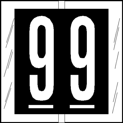 "Tabbies 81509 - ORIGINAL COL'R'TAB® NUMERIC 81500 LABEL SERIES, 1-1/2"" NUMERIC TAB '#9', BLACK, 1-1/2""H x 1-1/2""W, 104/PACK"