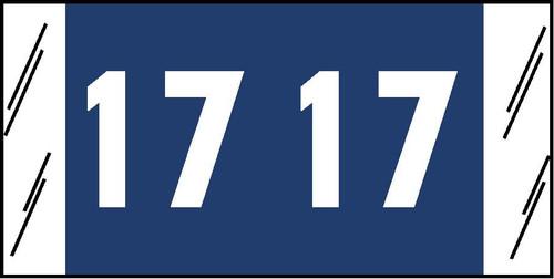 "Tabbies 81717 - ORIGINAL COL'R'TAB® YEARCODE 81700 LABEL SERIES, 3/4"" YEARCODE TAB '17', BLUE, 3/4""H x 1-1/2""W, 250/PACK"