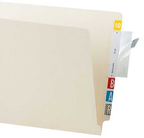 "Tabbies 88485 - LABEL/FILE FOLDER PROTECTORS, FILE FOLDER PROTECTOR, CLEAR, 4""W x 2""H, 500/ROLL"