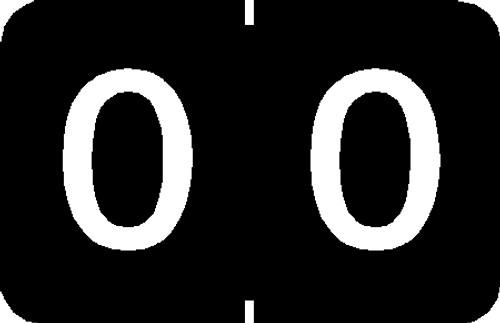"""Tabbies 90100 - TABBIES® NUMERIC 90100 LABEL SERIES, 1"""" NUMERIC LABEL '#0', BLACK, 1""""H x 1-1/4""""W, 500/ROLL"""