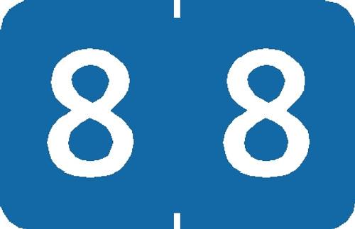 """Tabbies 90108 - TABBIES® NUMERIC 90100 LABEL SERIES, 1"""" NUMERIC LABEL '#8', LIGHT BLUE, 1""""H x 1-1/4""""W, 500/ROLL"""