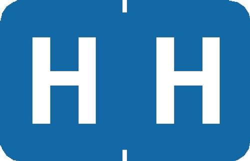 "Tabbies 90128 - TABBIES® ALPHA 90120 LABEL SERIES, 1"" PAPER LAMINATED ALPHA LABEL 'H', LIGHT BLUE, 1""H x 1-1/4""W, 500/ROLL"