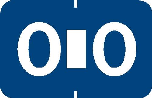 "Tabbies 90135 - TABBIES® ALPHA 90120 LABEL SERIES, 1"" PAPER LAMINATED ALPHA LABEL 'O', BLUE, 1""H x 1-1/4""W, 500/ROLL"