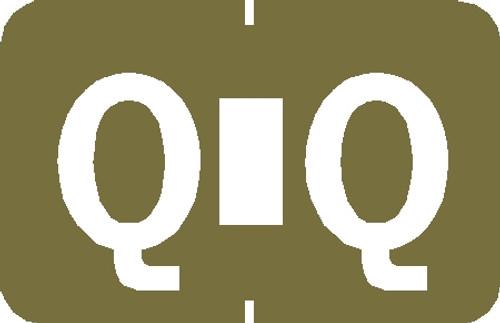 """Tabbies 90137 - TABBIES® ALPHA 90120 LABEL SERIES, 1"""" PAPER LAMINATED ALPHA LABEL 'Q', GOLD, 1""""H x 1-1/4""""W, 500/ROLL"""