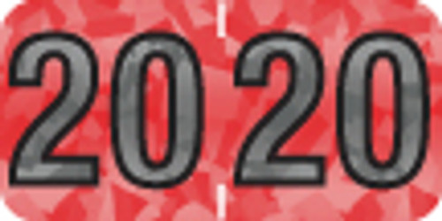 """Tabbies 97520 - PMA HOLOGRAPHIC COMPATIBLE YEARCODE 97100 LABEL SERIES, 3/4"""" HOLOGRAPHIC YEARCODE LABEL '20', RED, 3/4""""H x 1-1/2""""W, 500/ROLL"""