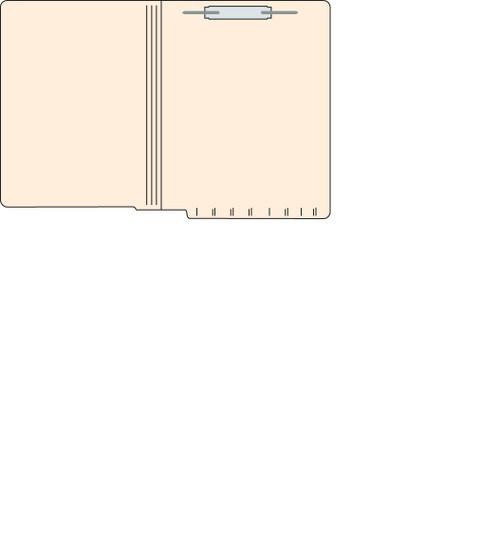 "Tabbies 560151 - FILE FOLDERS, 14PT 1-PLY LETTER SIZE FOLDER, FASTENER IN POSITION #1, MANILA, 9-1/2""H x 12-1/4""W, 250/CASE"