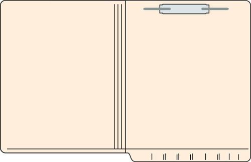 """Tabbies 560181 - FILE FOLDERS, 11PT 2-PLY REINFORCED LETTER SIZE FOLDER, FASTENER IN POSITION #1, MANILA, 9-1/2""""H x 12-1/4""""W, 250/CASE"""