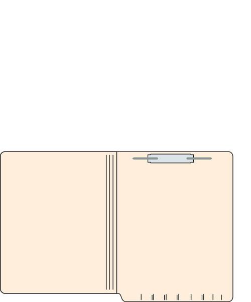 "Tabbies 560191 - FILE FOLDERS, 14PT 1-PLY LETTER SIZE FOLDER, FASTENER IN POSITION #1, MANILA, 9-1/2""H x 12-1/4""W, 250/CASE"