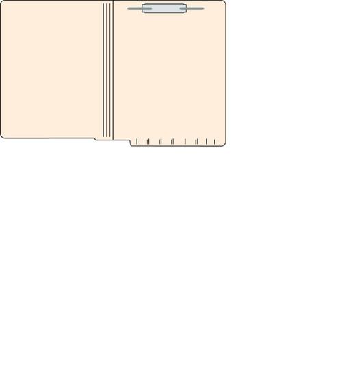 "Tabbies 560251 - FILE FOLDERS, 14PT 1-PLY LETTER SIZE FOLDER, FASTENER IN POSITION #1, MANILA, 9-1/2""H x 12-1/4""W, 250/CASE"