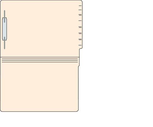 "Tabbies 560581 - FILE FOLDERS, 14PT 1-PLY LEGAL SIZE FOLDER, FASTENER IN POSITION #1, MANILA, 9-1/2""H x 15-1/4""W, 250/CASE"