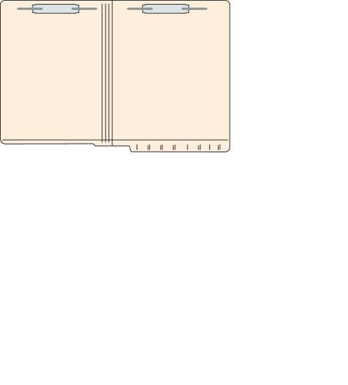 """Tabbies 5601213 - FILE FOLDERS, 11PT 2-PLY REINFORCED LETTER SIZE FOLDER, FASTENER IN POSITION #1 & #3, MANILA, 9-1/2""""H x 12-1/4""""W, 250/CASE"""