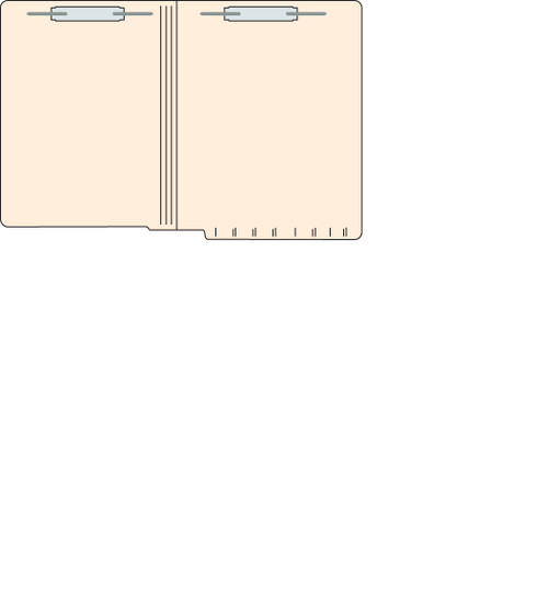 "Tabbies 5601513 - FILE FOLDERS, 14PT 1-PLY LETTER SIZE FOLDER, FASTENER IN POSITION #1 & #3, MANILA, 9-1/2""H x 12-1/4""W, 250/CASE"