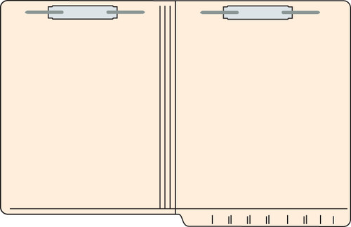 """Tabbies 5601813 - FILE FOLDERS, 11PT 2-PLY REINFORCED LETTER SIZE FOLDER, FASTENER IN POSITION #1 & #3, MANILA, 9-1/2""""H x 12-1/4""""W, 250/CASE"""