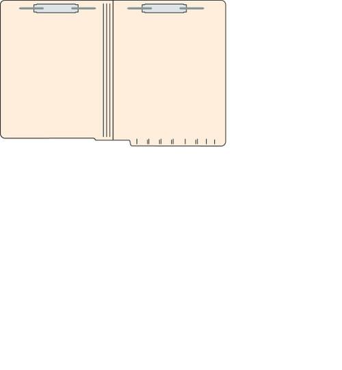 "Tabbies 5602513 - FILE FOLDERS, 14PT 1-PLY LETTER SIZE FOLDER, FASTENER IN POSITION #1 & #3, MANILA, 9-1/2""H x 12-1/4""W, 250/CASE"