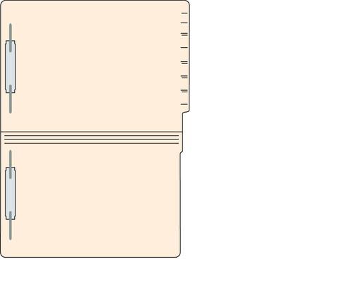 "Tabbies 5605813 - FILE FOLDERS, 14PT 1-PLY LEGAL SIZE FOLDER, FASTENER IN POSITION #1 & #3, MANILA, 9-1/2""H x 15-1/4""W, 250/CASE"