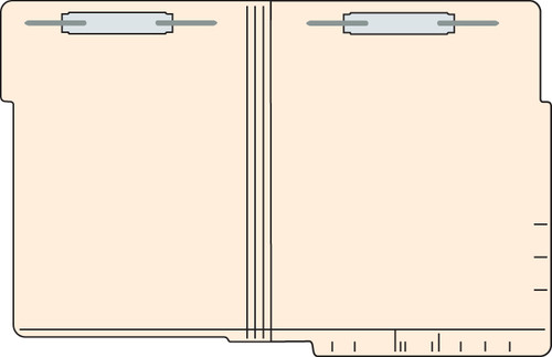 "Tabbies 5622213 - Dual Top/End Tab Expansion Folder with Fasteners in Positions 1 & 3 -  LETTER SIZE, 11 Pt.  MANILA, 2-PLY REINFORCED TABS, 9-1/2""H x 12""W, 250/CASE"