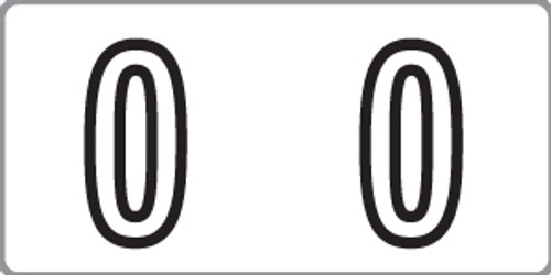 """Tabbies 140-0 - KARDEX PSF-140 COMPATIBLE NUMERIC LABEL SERIES, 1/2"""" NUMERIC LABELS '#0', WHITE, 1/2""""H x 1""""W, 500/ROLL"""