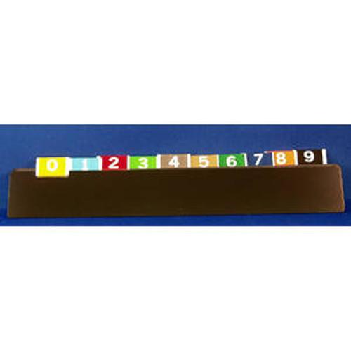 Tabbies DTKGDN - COL'R'TAB® NUMERIC GUIDES, COL'R'TAB® NUMERIC GUIDES, BLACK, 1 SET 0 - 9