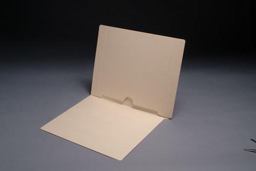 Full Open Bottom Back Pocket Folder - 11 Pt. Manila - Letter Size - Full Cut End Tab - 50/Box