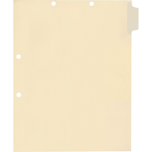 Medical Arts Press Match Write-On Side Tab Chart Dividers- Blank, Position 1 (100/Pkg)