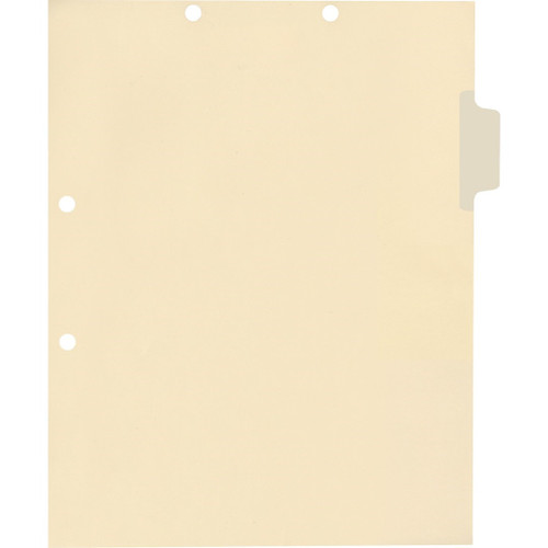 Medical Arts Press Match Write-On Side Tab Chart Dividers- Blank, Tab Position 2- Clear (100/Pkg) (56831)