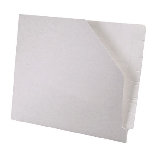 Colored End Tab Pocket Folder with Slant Cut Pocket, Full Cut End Tab, Letter Size - White - 100/Box