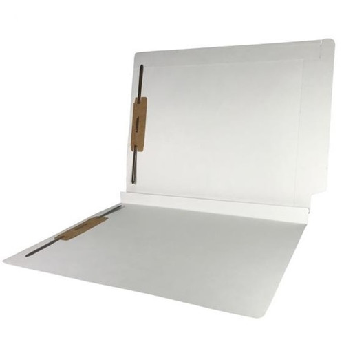 """Colored Expansion Folders - Reinforced Top & End Tabs - 1-1/2"""" Expansion - 14 PT. White - Fasteners in Positions 1 & 3 - Letter Size - 50/Box"""