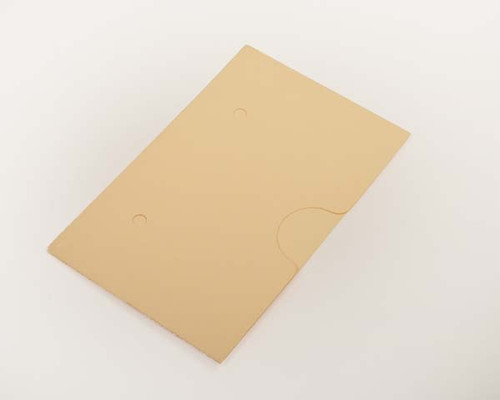 "Self Adhesive Manila Pocket - 6""W x 4"" H - 11 Pt. Manila Stock - Thumb Cut Center - 50/Box"