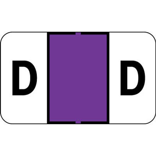 """Control-O Fax Alpha Label System - Letter 'D' - Purple - 15/16"""" H x 1-5/8"""" W - Sheets for File Box - 225 Labels Per Pack"""