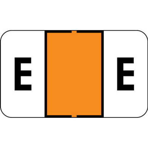 "Control-O Fax Alpha Label System - Letter 'E' - Orange - 15/16"" H x 1-5/8"" W - Sheets for File Box - 225 Labels Per Pack"