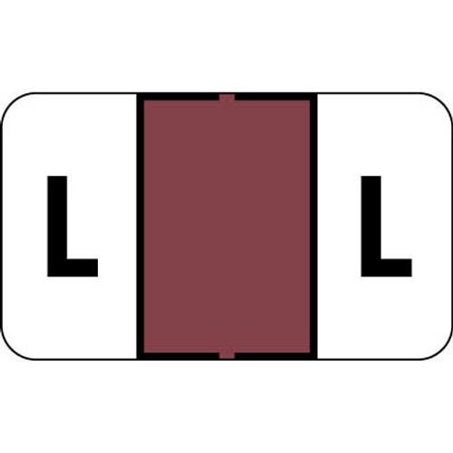 "Control-O Fax Alpha Label System - Letter 'L' - Mauve - 15/16"" H x 1-5/8"" W - Sheets for File Box - 225 Labels Per Pack"