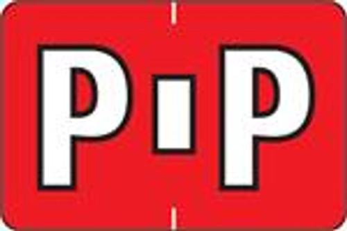 """PMA Alpha Labels 3900 Series - Letter P - 1"""" H x 1-1/2"""" W - Sheets for File Box - 225 Labels per Pack - 25 Sheets per pack"""