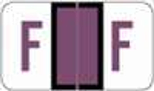 "POS 3400 Series (Sheets) - Letter F - Purple - 15/16"" H x 1-5/8"" W - 225/Pack"