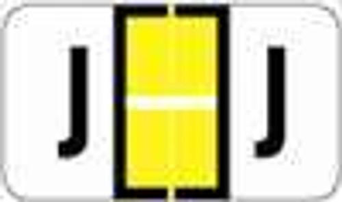 "POS 3400 Series (Sheets) - Letter J - Yellow - 15/16"" H x 1-5/8"" W - 225/Pack"