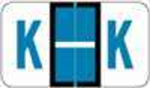 "POS 3400 Series (Sheets) - Letter K - Blue - 15/16"" H x 1-5/8"" W - 225/Pack"