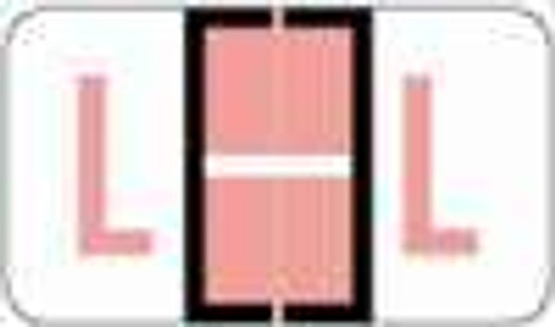 """POS 3400 Series (Sheets) - Letter L - Pink - 15/16"""" H x 1-5/8"""" W - 225/Pack"""