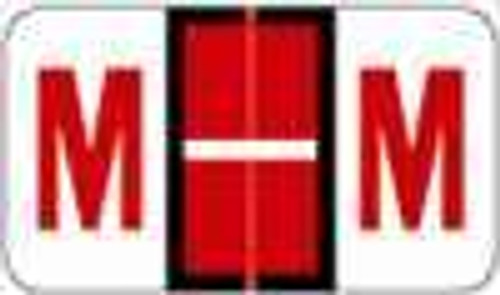 "POS 3400 Series (Sheets) - Letter M - Red - 15/16"" H x 1-5/8"" W - 225/Pack"