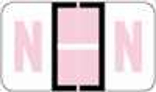 """POS 3400 Series (Sheets) - Letter N - Lilac - 15/16"""" H x 1-5/8"""" W - 225/Pack"""