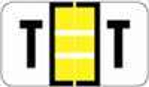 "POS 3400 Series (Sheets) - Letter T - Yellow - 15/16"" H x 1-5/8"" W - 225/Pack"