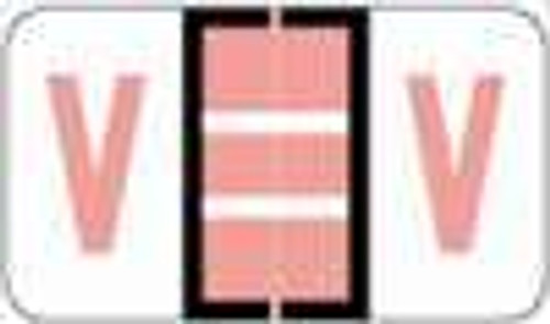 """POS 3400 Series (Sheets) - Letter V - Pink - 15/16"""" H x 1-5/8"""" W - 225/Pack?ÿ"""