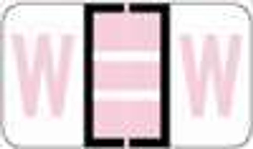 """POS 3400 Series (Sheets) - Letter W - Lilac - 15/16"""" H x 1-5/8"""" W - 225/Pack?ÿ"""